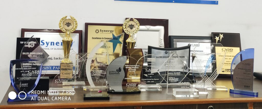 Awards recieved by cadd centre lucknow
